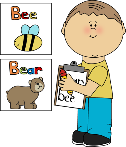 svg royalty free stock Clipboard clipart cute. Boy writing words on.