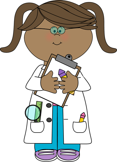 banner black and white download Clipboard clipart instruction. Girl scientist with clip.