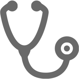 clip library stock Dim gray icon free. Clipboard clipart stethoscope.