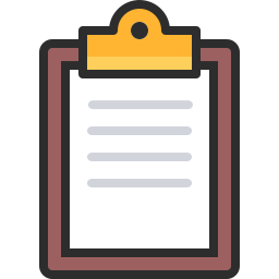 picture black and white Clipboard Icon Outline Filled