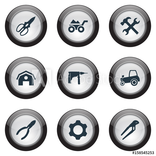 graphic library Vector Illustration Set Of Simple Build Icons