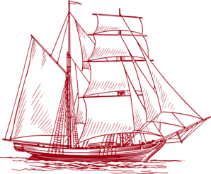 clip art transparent library Clipper Ship Tranparent Red Clip Art at Clker