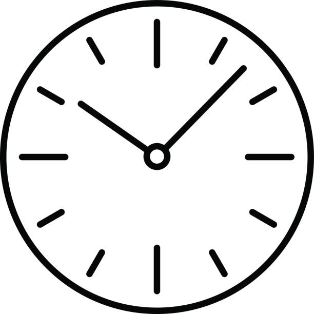 black and white Clock clipart. Dial clip art library