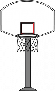 svg library download Goal clip art image. Clock clipart basketball.