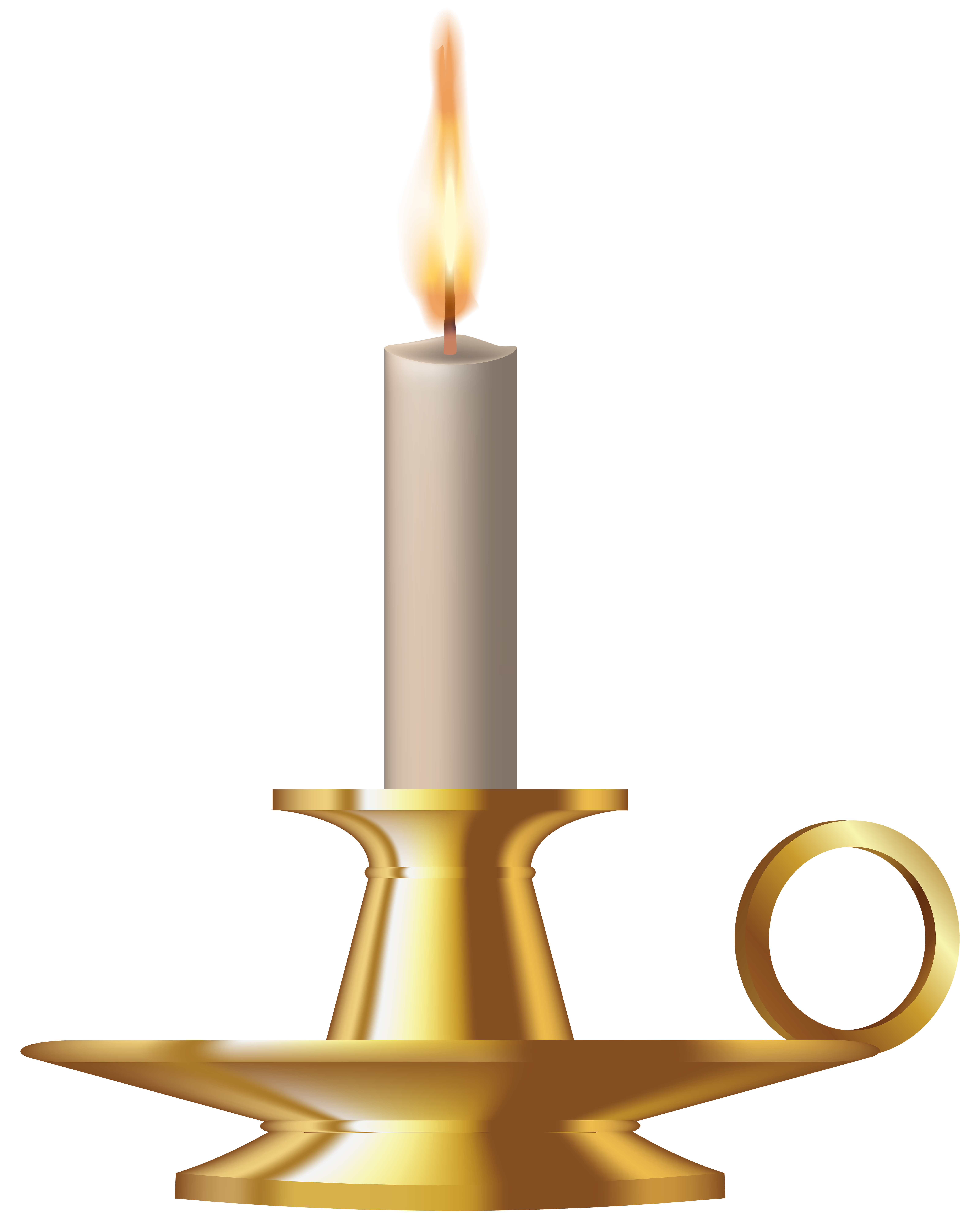 jpg library Clock clipart candle. Gold candlestick png clip.