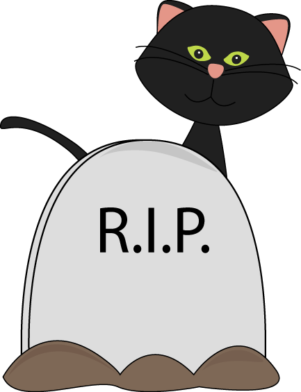 svg black and white library Halloween black cat and. Gravestone clipart nice