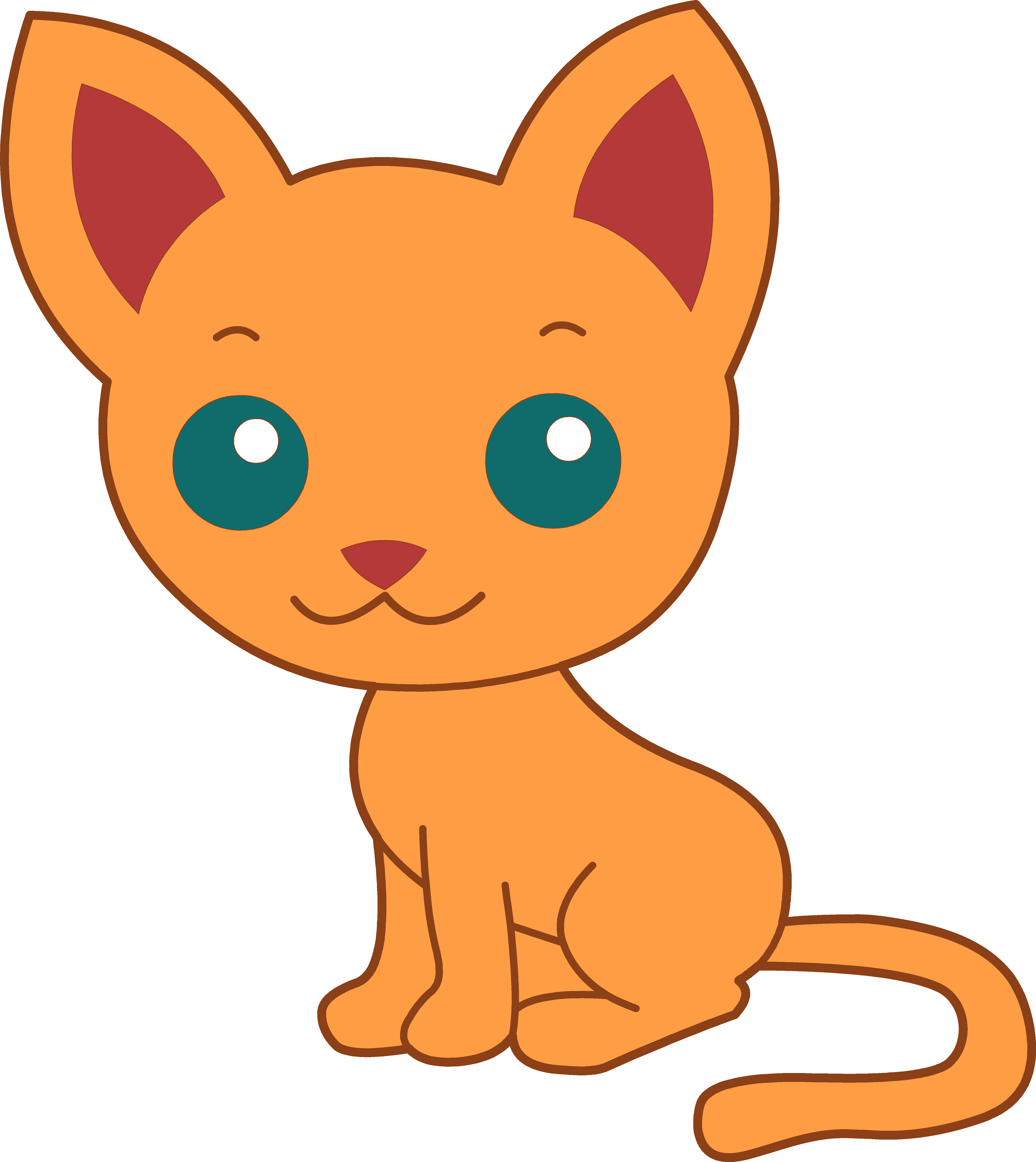 vector freeuse library Cute Cat Clipart