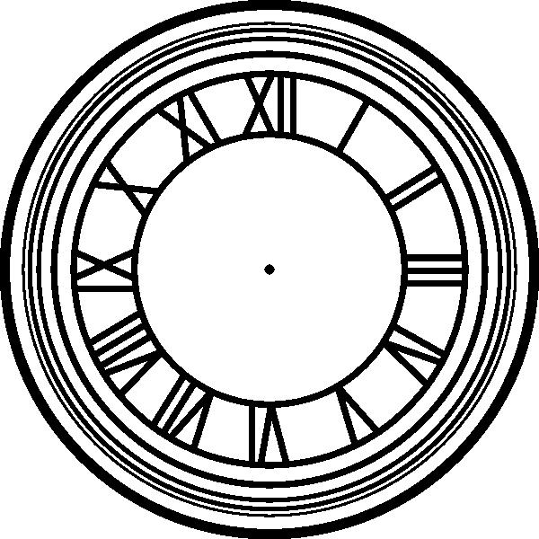 svg black and white Clock clipart roman numerals. Numeral face clip art.