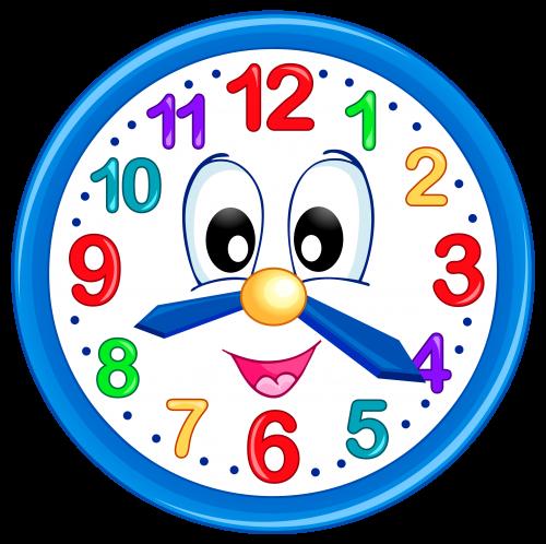 clip library Clock clipart student. Cute png clip art.