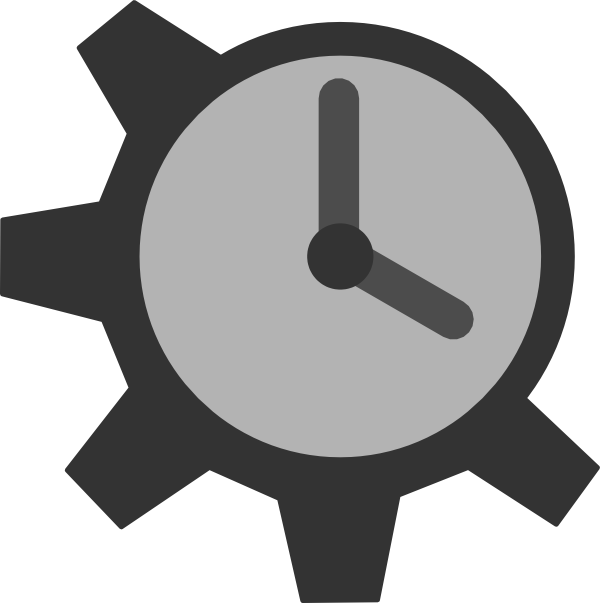svg black and white library Clock Gear Clip Art at Clker