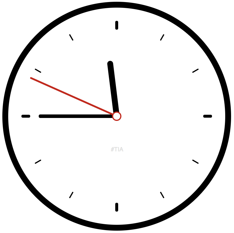 banner black and white library Clock svg. Create a pure css.