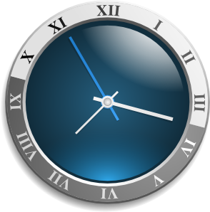 graphic black and white stock Clock Clip Art at Clker