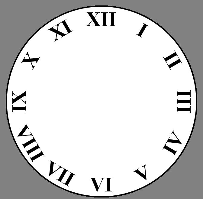 image free art clock face template