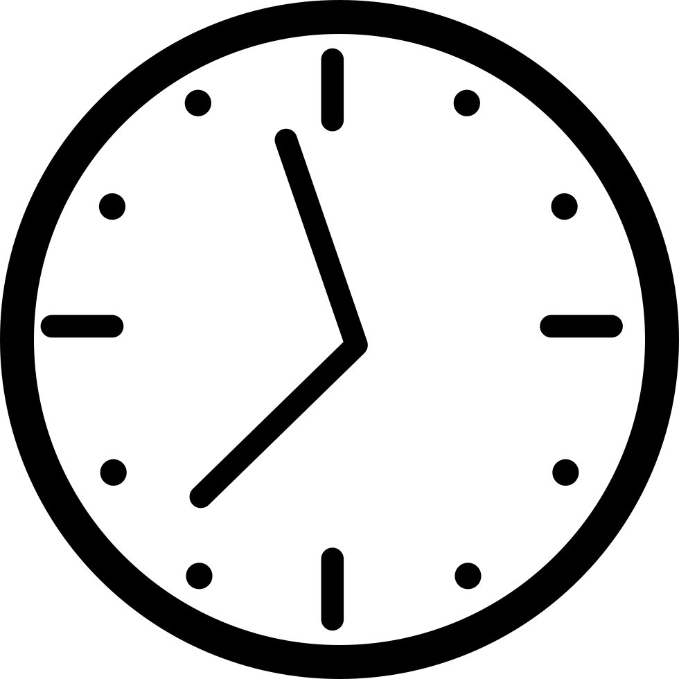 clipart transparent stock Round Wall Clock Svg Png Icon Free Download