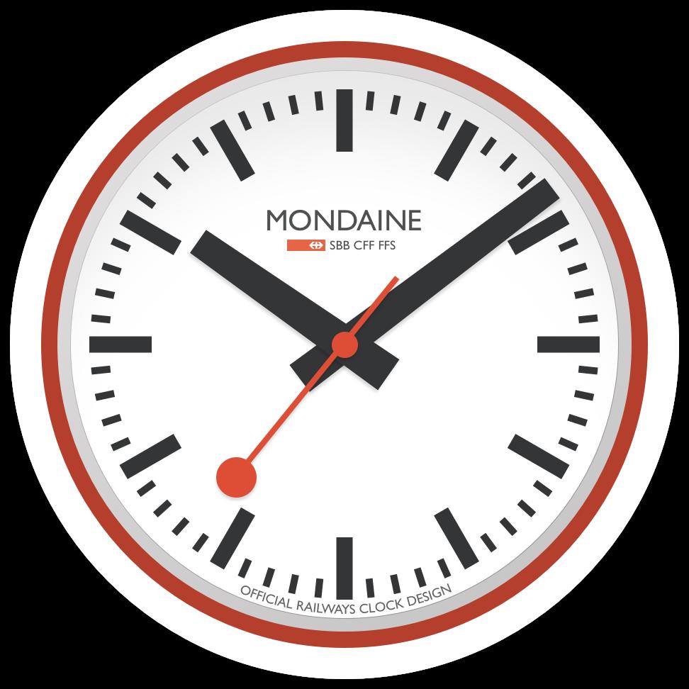 graphic royalty free stock Swiss railway wall clock