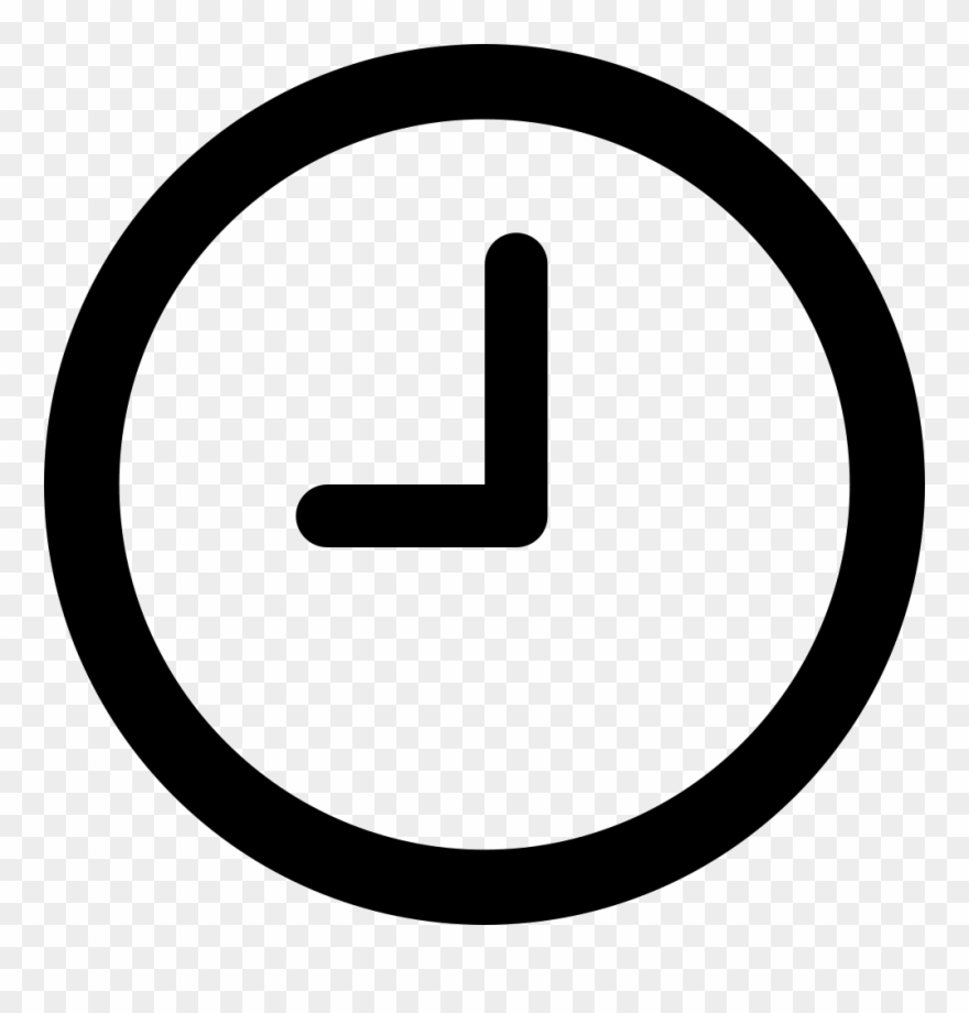 jpg library Clipart Black And White Download Clock Svg Png Icon