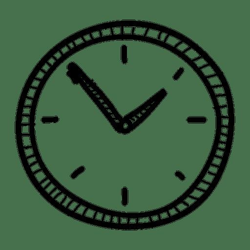 png royalty free library Hand drawn wall clock