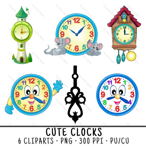 vector black and white stock Clocks clipart. Clock cute clip art.