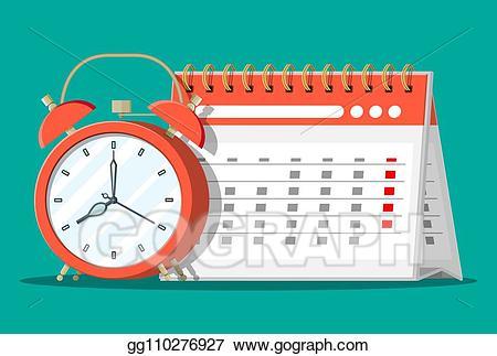 image library Clocks clipart calendar. Eps vector paper spiral.