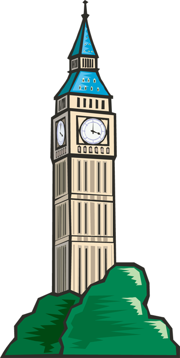 stock Tower Clock Clipart
