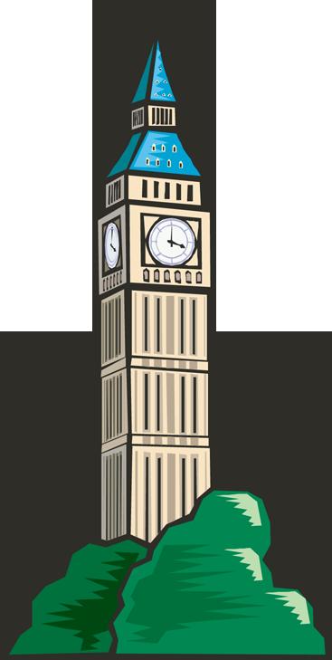 graphic free stock Tower clock clip art. Clocks clipart church.