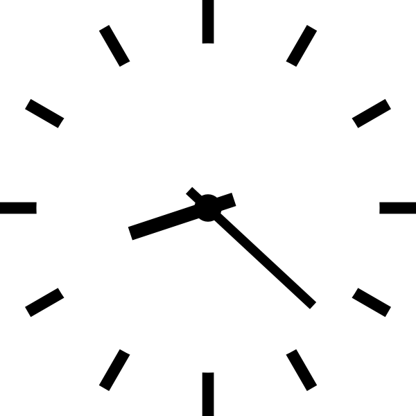 jpg royalty free Clock clip art at. Time clipart black and white