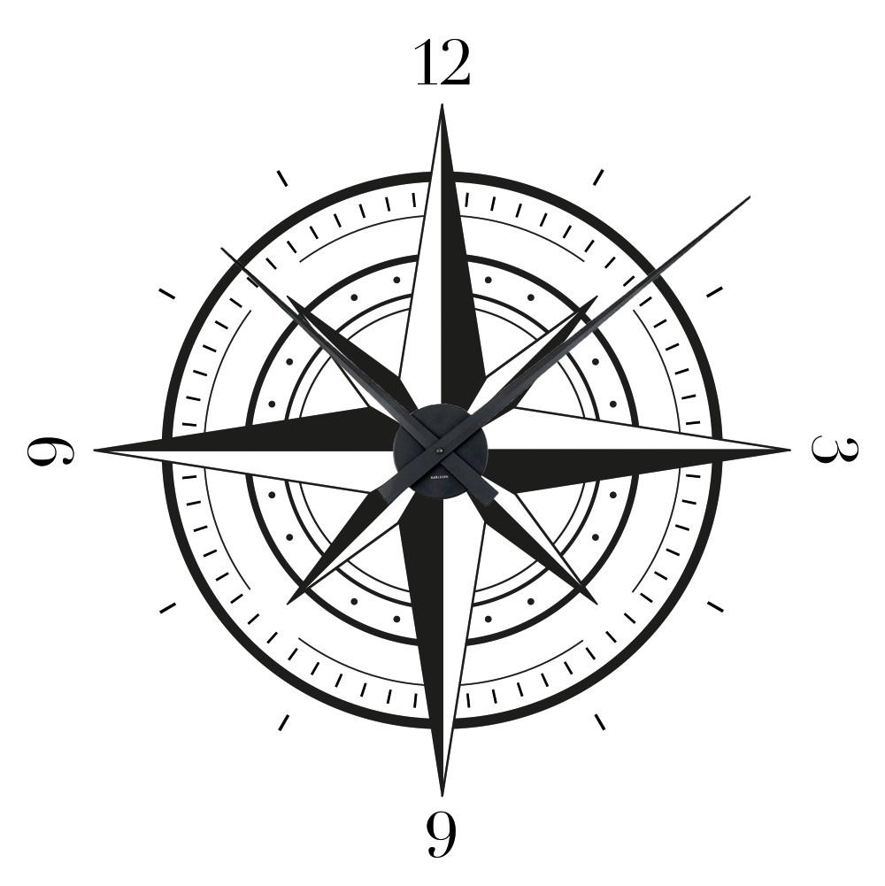 clip Star clock wall sticker. Clocks clipart compass.
