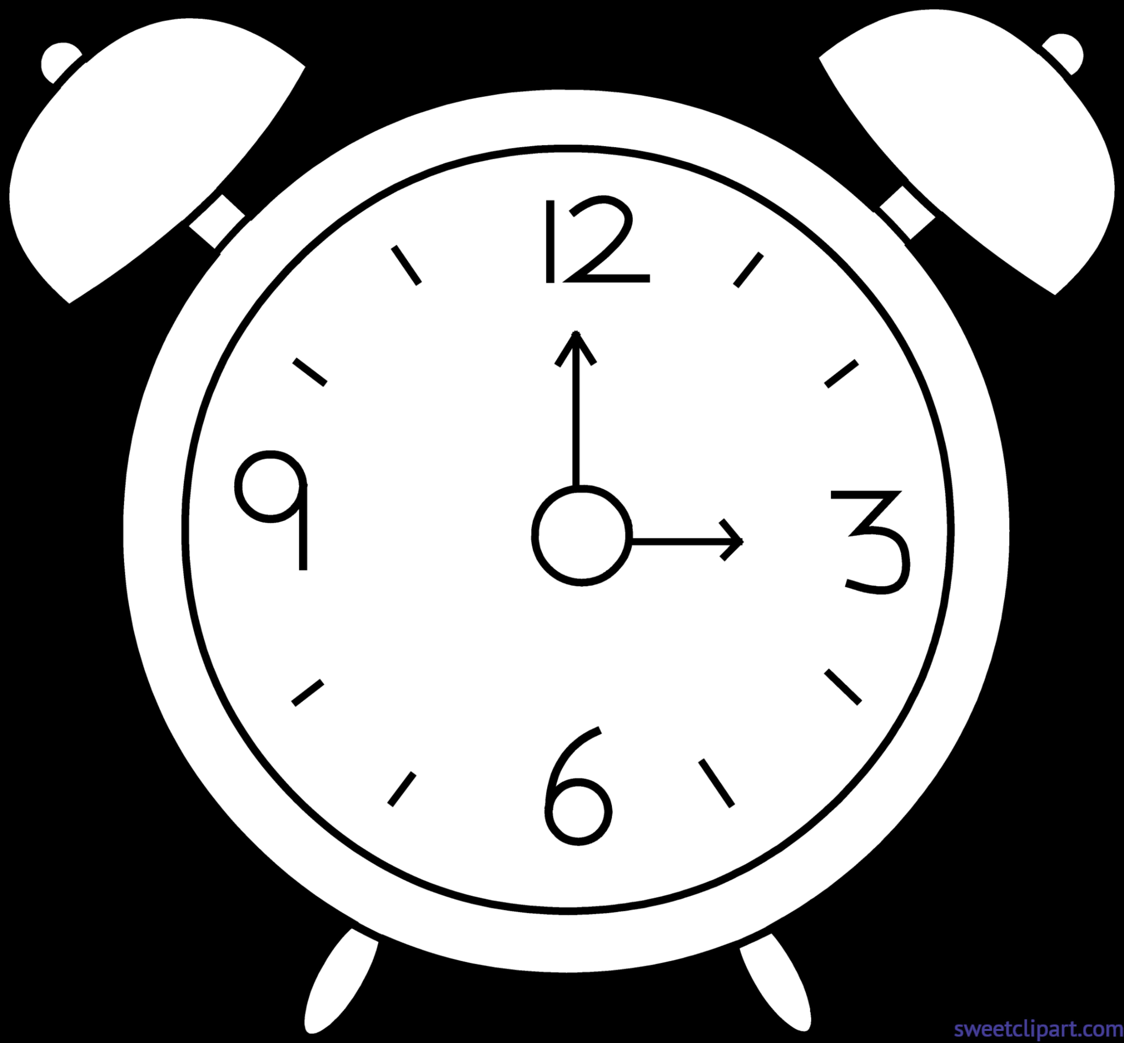 png free download Clocks clipart dog. Alarm clock lineart clip.