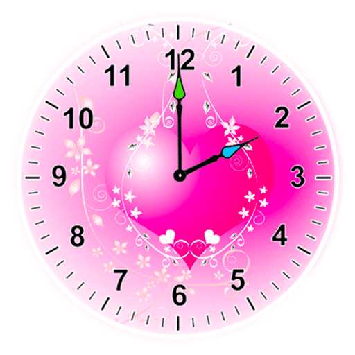 jpg transparent library Beautiful clock widget apps. Clocks clipart girly.