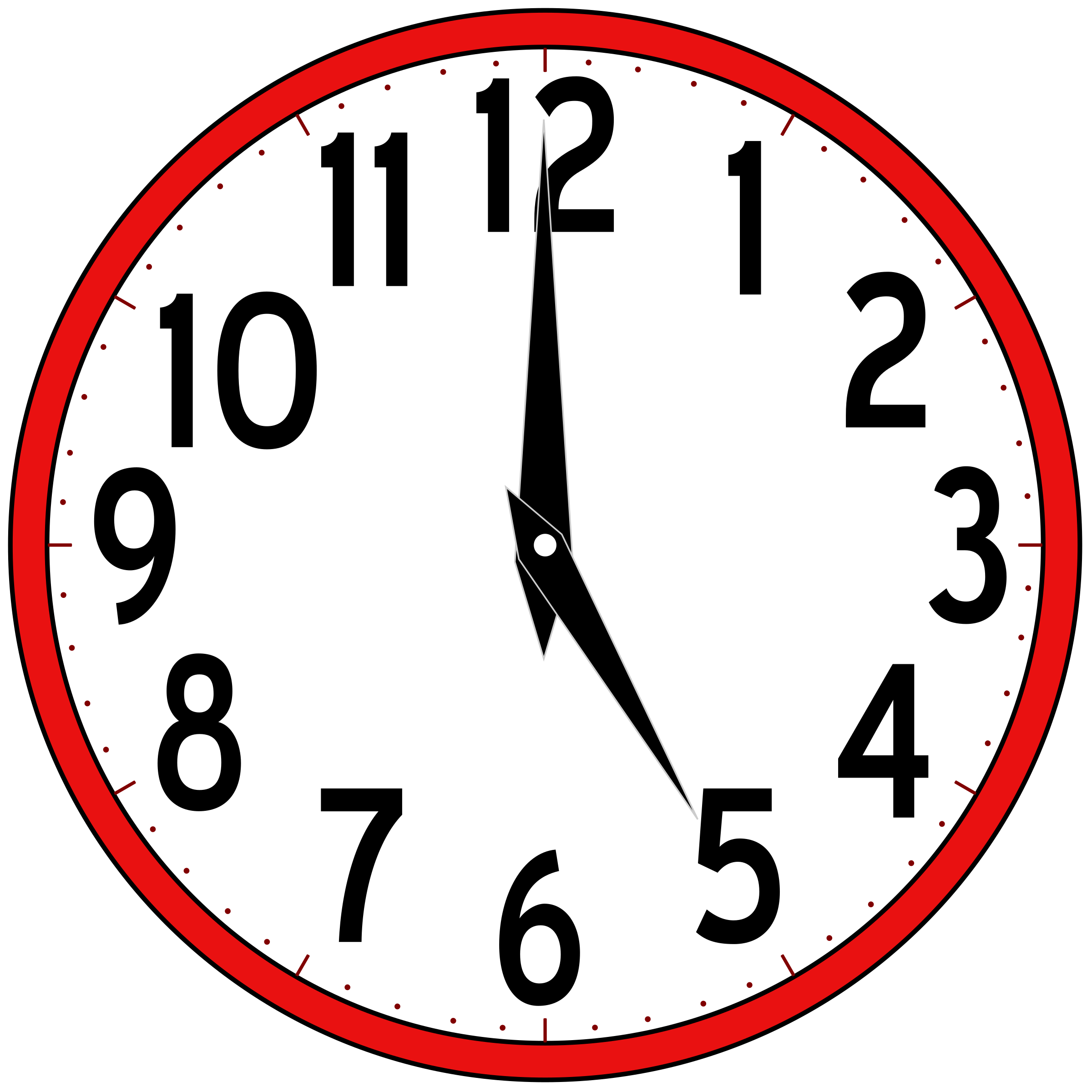 jpg royalty free library Analog Clock Clip Art