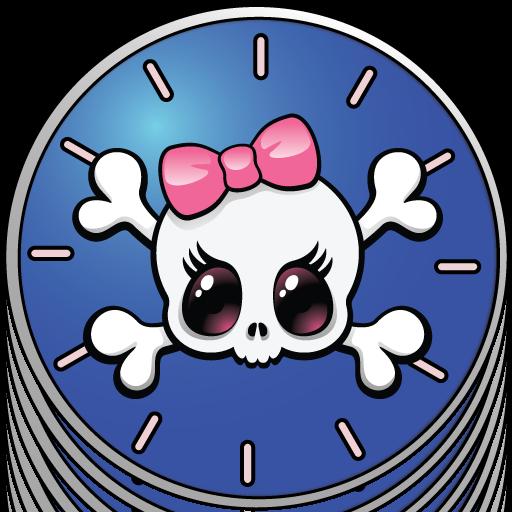 clip art free Clocks clipart girly. Amazon com skull appstore.