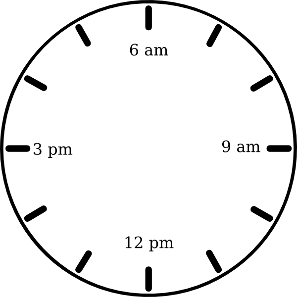 png black and white library Clock am clip art. Clocks clipart morning.