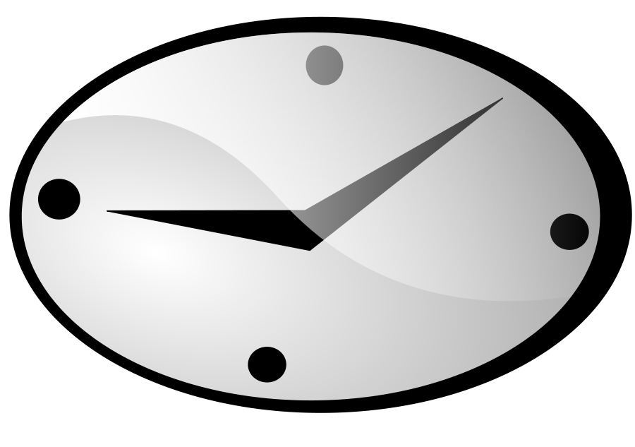clip library library Clocks clipart oval. Clock pencil and in.