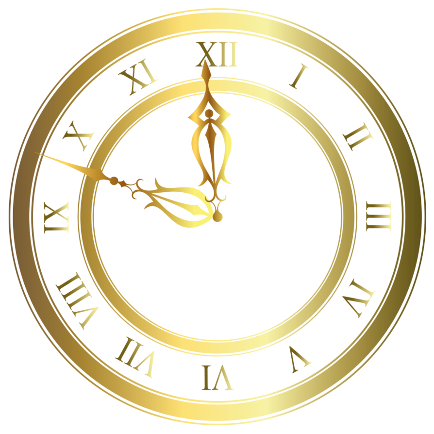 png stock Clock gold vector by. Clocks clipart oval.