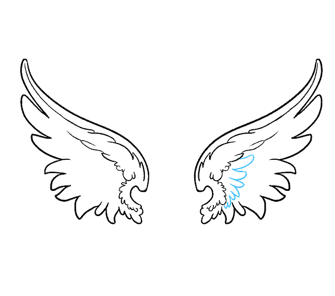 clip free stock How to draw wings. Angles drawing guardian angel.