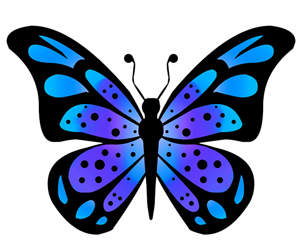 clip art royalty free butterfly drawings