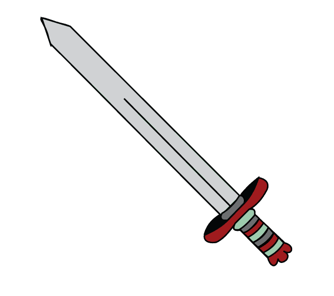 royalty free stock Collection of free Drawing swords