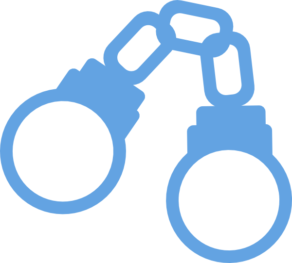 clip art transparent library Closed clipart. Handcuffs light blue cartoon.