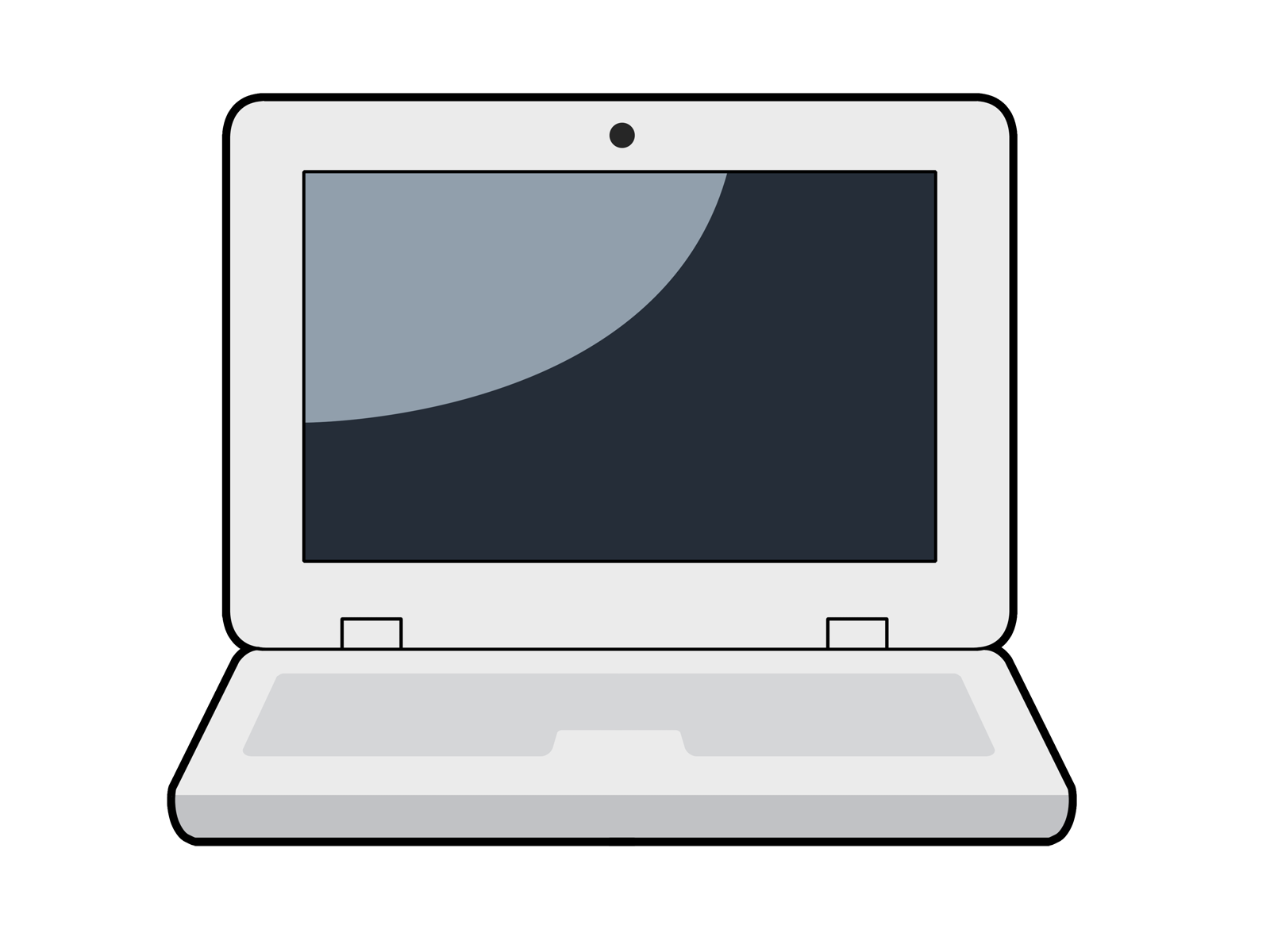 free stock Cartoon Laptop Free Clipart