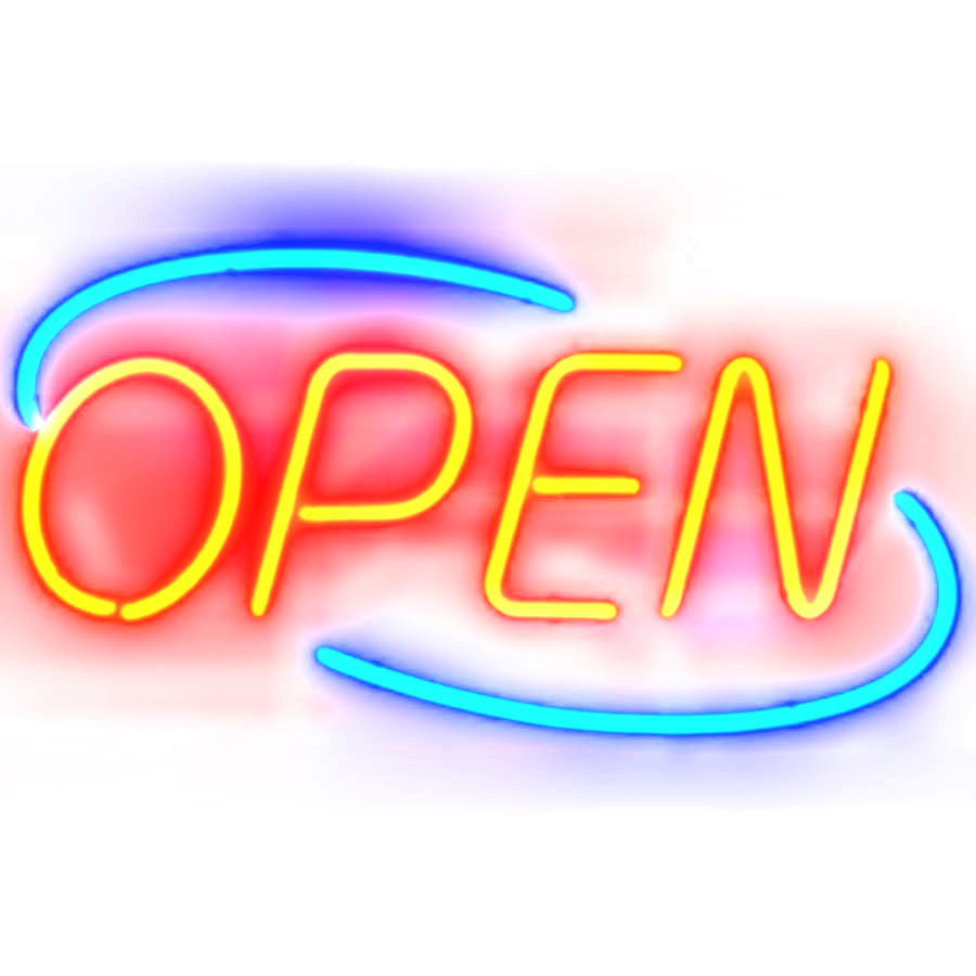 picture freeuse stock Closed clipart now. Neon open free on.