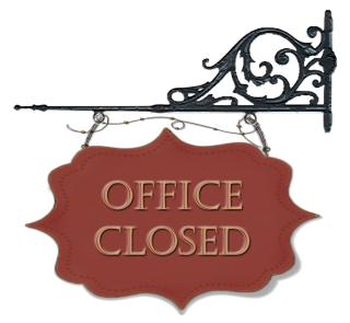 clipart Closed clipart temporarily. Office is sign physic.