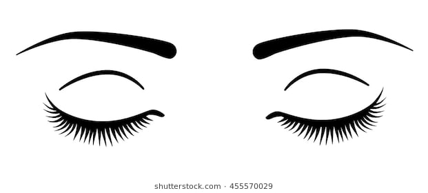 clipart royalty free Closed eyes clipart. Eye station