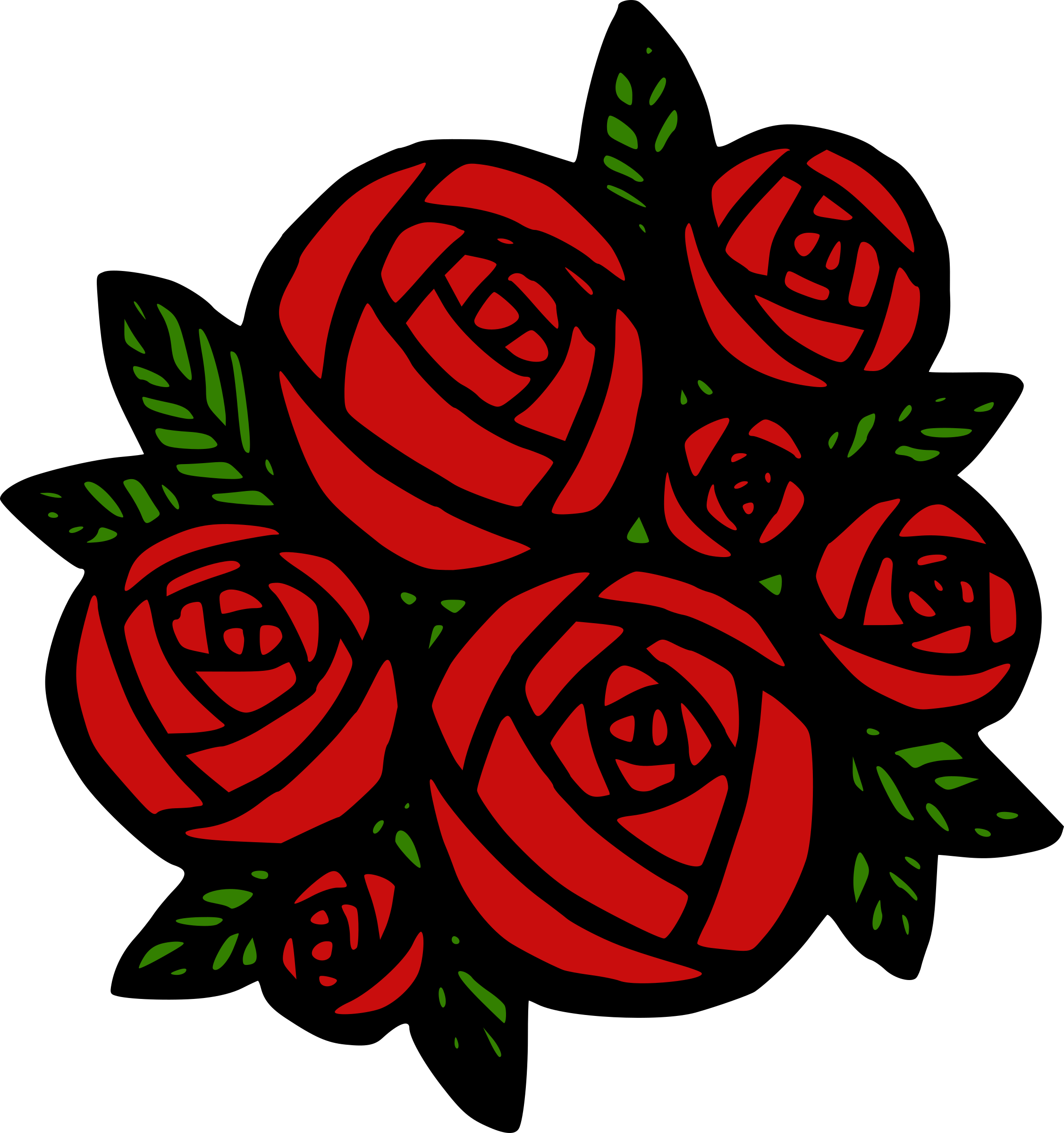 banner black and white Of red roses big. Closet clipart bunch.