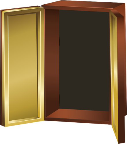 clip art library download Closet clipart cubboard. Open cupboard .
