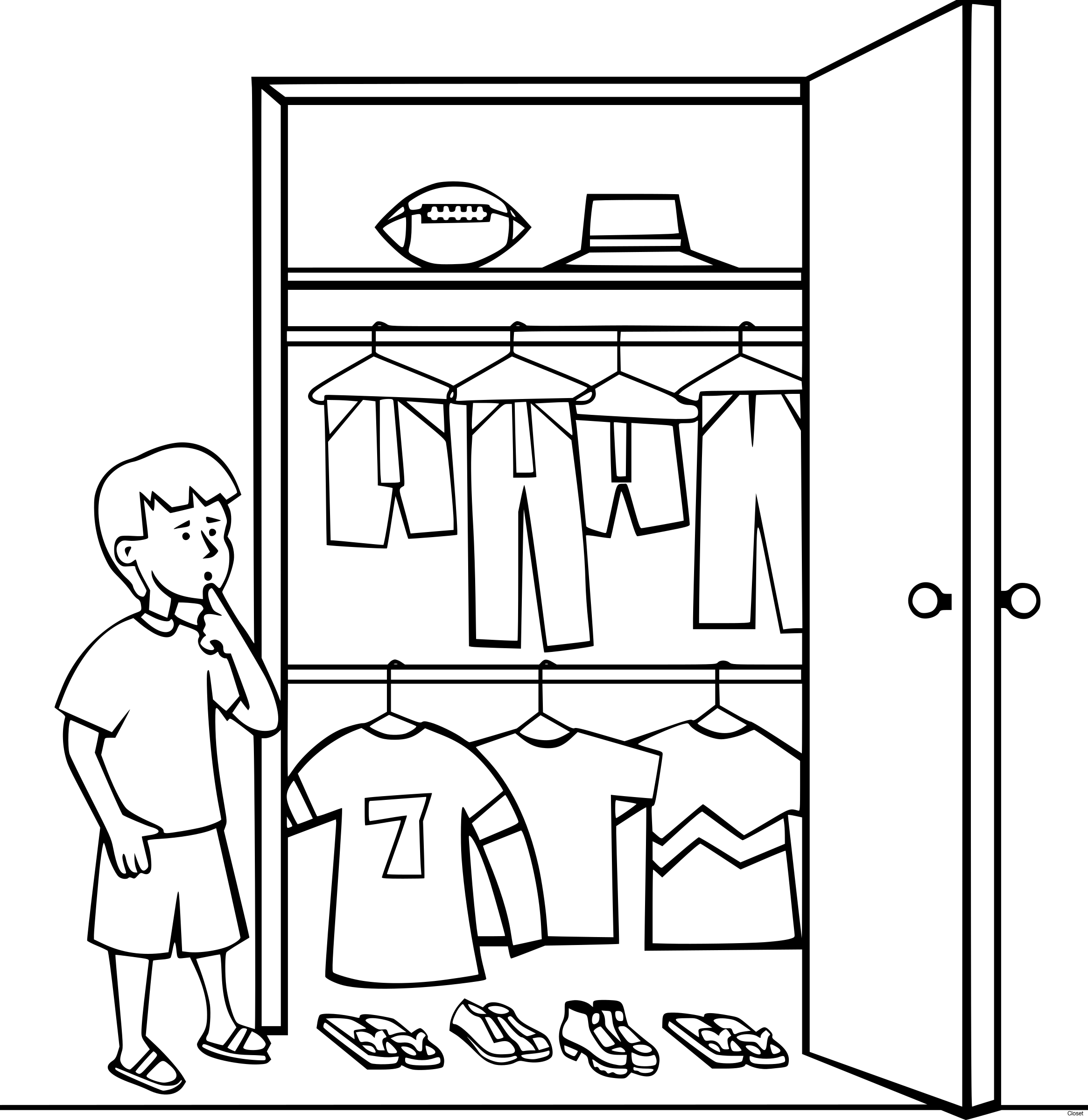 black and white download  collection of clipart. Closet drawing.