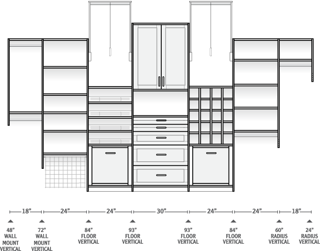 picture transparent library Closet drawing. Custom design at more.