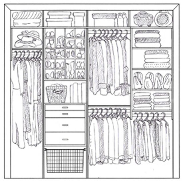 clipart royalty free stock Closet drawing. Design images to meet.
