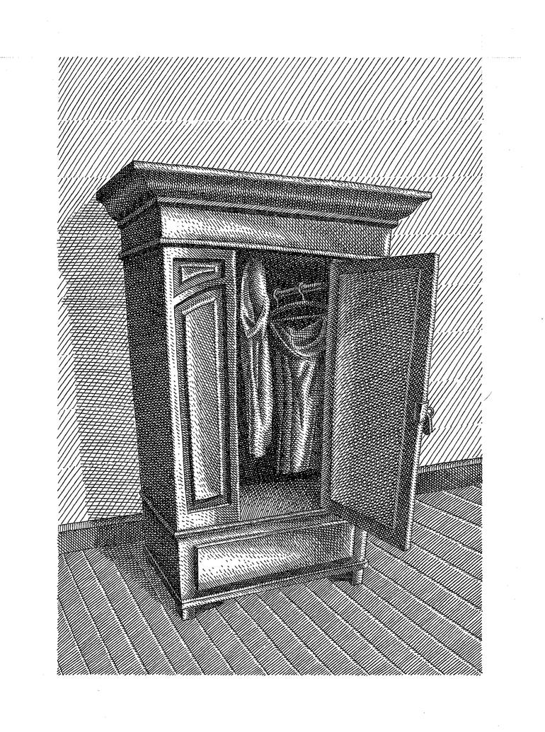 banner freeuse library . Closet drawing.