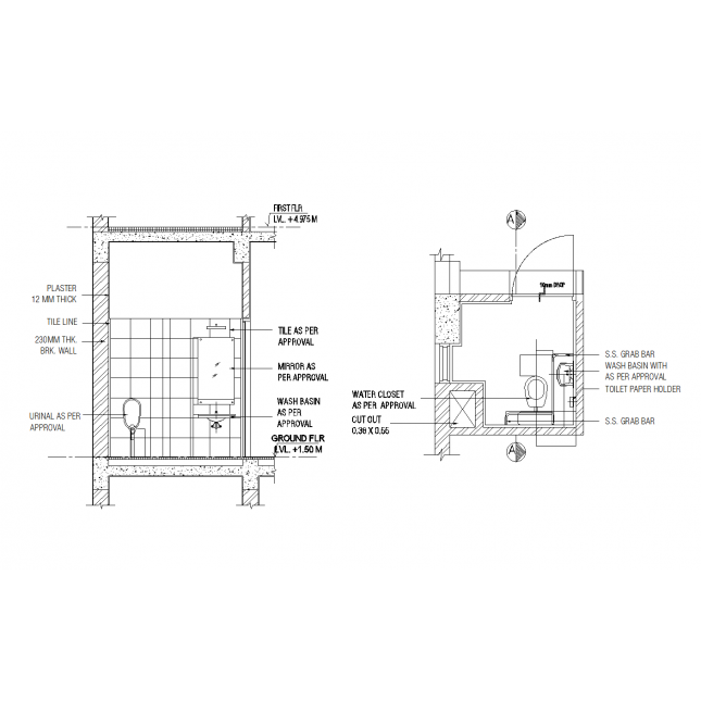 picture free download Block drawing approval. Dda ada cad toilet