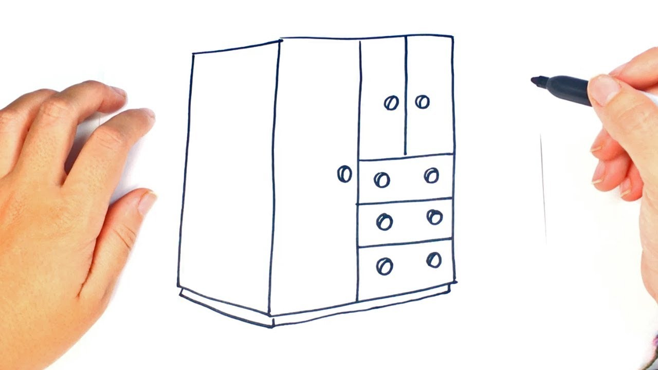 picture royalty free Closet drawing easy. How to draw a